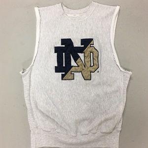 VINTAGE Notre Dame Irish Football Sweatshirt Tank
